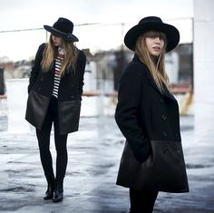 Coach Wool And Leather Car Coat, Otte Alexis Hat, Lush Clothing Sweater, Asos Chelsea Boots