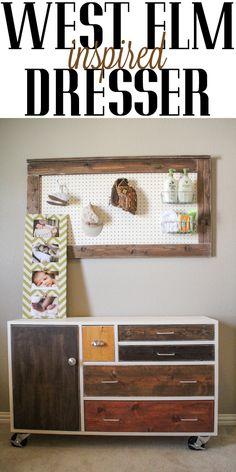 West Elm inspired dresser!  DIY and so cute!