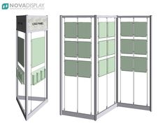 Kiosk & Screen Style Display Kits — supplied with cable systems for suspension of acrylic poster holders, leaflet dispensers and signs onto display frame. Exhibition Display Stands, Exhibition Booth, Exhibition Space, Stand Design, Display Design, Booth Design, Design Design, Online Furniture, Ikea Furniture