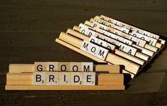 Scrabble place cards