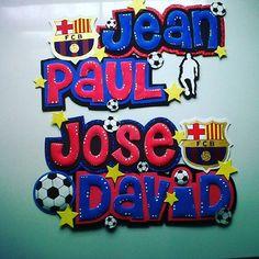 #foami #gomaeva #nombres #habitacion #decoracion #deco #infantiles  #barca  #barcelona #futbol #instapic #instasize
