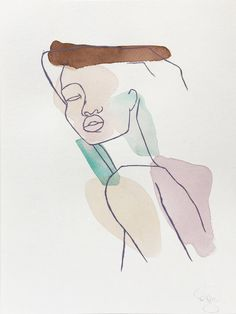 ANML studio's emotionally evocative work aims to draw in the viewer by revealing intimate situations, aspects of the human experience, and evidence of the mindset/process of the artist. Art Sketches, Art Drawings, Minimalist Art, Les Oeuvres, Collage Art, Art Inspo, Watercolor Paintings, Watercolor Paper, Line Art