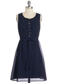 Bayfront Bliss Dress. The only thing more breathtaking than the balconys ocean view is you in this navy dress! #blue #modcloth