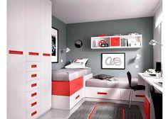 Dormitorio juvenil: Habitación Juvenil 203-2062015 | Habitación Juvenilequipada a base de elementos modulares y apilables.Los elementos que integran l