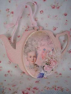 let them eat cake pink teapot