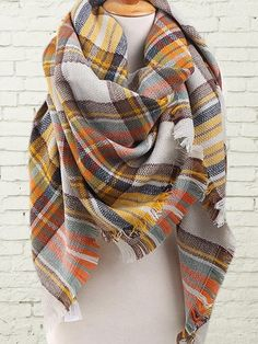 Happy Fall Sale, Plaid Blanket Scarf, Scarf, Plaid Scarf, Tartan Scarf, IN STOCK-NEXT Day Shipping! by LoveThatMonogram on Etsy https://www.etsy.com/listing/244693076/happy-fall-sale-plaid-blanket-scarf