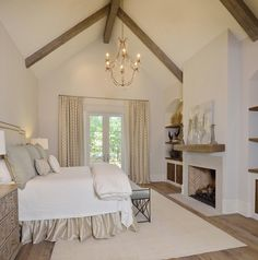 Mockingbird Master Bedroom Retreat Bedroom Architectural Detail Transitional by Cindy Witmer Designs