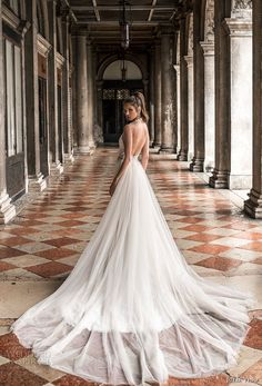 julie vino spring 2018 bridal sleeveless halter sweetheart neckline heavily embellished bodice elegant glamorous fit and flare wedding dress a line overskirt open scoop back chapel train (15) bv -- Julie Vino Spring 2018 Wedding Dresses