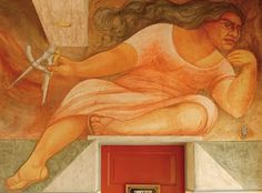 MURALES DE GUERRERO en la Escuela MÉXICO en Chillán, Chile Diego Rivera, Painting, Home, Wall Art, Murals, Mexican Paintings, Warriors, Printing Press, Mexicans