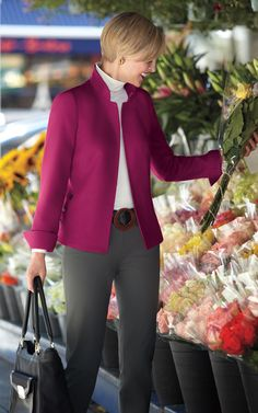 A line of clothing designed by a woman with fashion and business expertise, for smart, confident women on the go. Casual Work Outfits, Work Casual, Simple Outfits, Sexy Outfits, Fashion Outfits, Womens Fashion, Look Office, Fashion For Women Over 40, Office Fashion