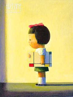 Liu Ye, Hello, Mondrian, 2002, Acrylic on canvas, 60×45cm