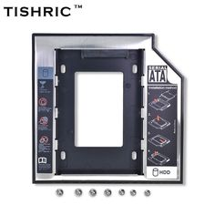 "TISHRIC Hot Sale Universal Aluminum Plastic for DVD/CD-ROM 2nd HDD Caddy 12.7mm SATA 3.0 For 7-12.5mm 2.5""SSD Case Enclosure"