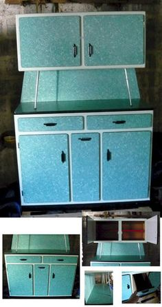 Retro/vintage French 50s/60s Formica Kitchen Cabinet | eBay