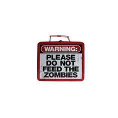 Please Do Not Feed The Zombies Lunch Box (20 CAD) ❤ liked on Polyvore featuring home, kitchen & dining, food storage containers, bags, fillers, accessories and extra