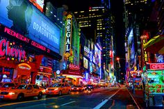 Times Square neon.