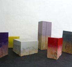 high-gloss painted wood blocks by judith seng