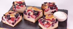 Berry Buckle by Clinton Kelly on The Chew.  A sweet & simple summertime dessert!