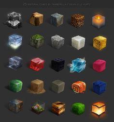 25 Material Cubes by TamberElla on DeviantArt Digital Painting Tutorials, Art Tutorials, Texture Art, Texture Painting, Isometric Cube, Game Textures, Game Character Design, Material Research, Art Studies