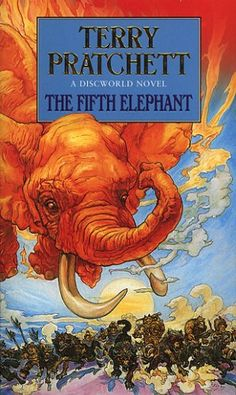 The Fifth Elephant (Discworld, book by Terry Pratchett - book cover, description, publication history. Discworld Books, Books To Read, My Books, Terry Pratchett Discworld, Fanart, Story Titles, Vampire, Book Cover Art, Fantasy Books