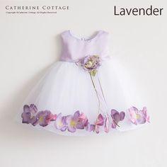 ベビードレス 紫 ラベンダー