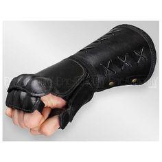 Left Black Leather Gauntlet - Epic Armoury Canada