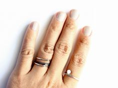 overlapping sterling silver stacking ring |  gugma jewelry