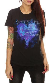 Evanescence Heart T-shirt, Hot Topic