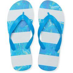 Aeropostale Pool Stripe Flip-Flop (131.100 IDR) ❤ liked on Polyvore featuring men's fashion, men's shoes, men's sandals, men's flip flops, bleach and mens rock climbing shoes
