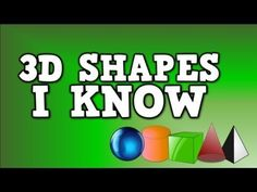 3D Shapes I Know (solid shapes song- including sphere, cylinder, cube, cone, and pyramid) - Free video.