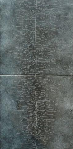 Jenny Phillips | 'Chalk Spine', encaustic