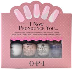 I Nail Polish - Mini Lacquer French Manicure Set - I Now Pronounce You *** Hurry! Check out this great product : Travel Makeup Opi Nail Polish, Opi Nails, Bridal Shower Favors, Wedding Favors, Travel Makeup Essentials, Opi Colors, Manicure Set, Birthday Wishlist, Happy Anniversary