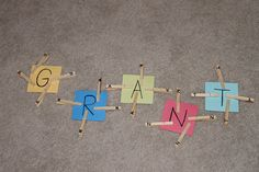 Name Activities Sensory Basket - Child at Heart Blog