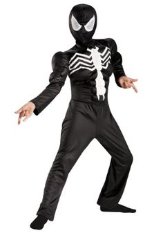 Big Boys Ultimate Black Suited Spiderman Muscle Costume Small (4-6) @ niftywarehouse.com