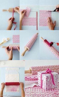 DIY Tablecloth stamp
