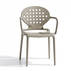 Contemporary stacking indoor/outdoor armchair Holes by Scab Colours: Lino, orange, light blue, anthracite and dove grey