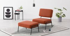 Retro Armchair, Blue Accent Chairs, Small Living Room Chairs, Modern Chairs, Soft Furnishings, Floor Chair, Furniture Decor, Interior Inspiration, Designer