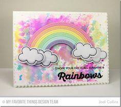 Rainbow of Happiness, Lucky, Blueprints 20 Die-namics, Lucky Die-namics, Stitched Rainbow Die-namics - Jodi Collins  #mftstamps