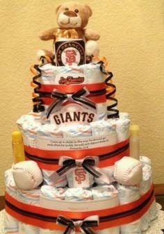 San Fran Giants diaper cake