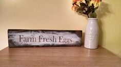 Farm Fresh Eggs, Kitchen Decor, Farmhouse, Country Decor, Rustic, Cottage Chic, Upcycled Wood, Reclaimed Wood, Ready to Ship, Mothers Day