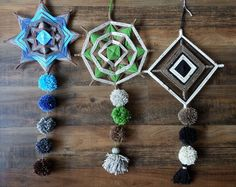 handmade by MacuNana yarn mandalas / Eye of God / Ojo de Dios