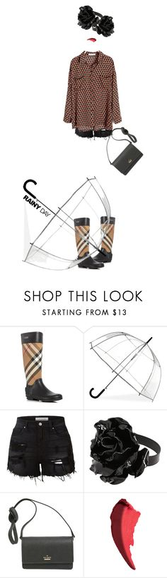 """""""!!!"""" by maria-laura-correa-da-silva ❤ liked on Polyvore featuring Burberry, ShedRain, LE3NO, Yves Saint Laurent, Kate Spade and Givenchy"""