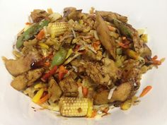 Wok cu legume si carne de cereale Straccetti Wok, Pulled Pork, Tacos, Beef, Ethnic Recipes, Pull Pork, Woks, Steak