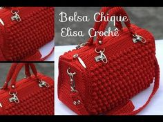 Crochet Bag + Diagram + Step By Step Tutorials Crochet Crafts, Crochet Projects, Knit Crochet, Crochet Handbags, Crochet Purses, Bobble Stitch, Crochet Videos, Knitted Bags, Handmade Bags