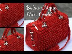 Versão canhotos : Bolsa chique em crochê ( 2ª parte ) # Elisa Crochê - YouTube