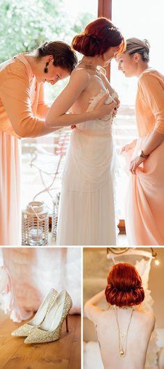 Hochzeit auf dem Hohen Darsberg, Brautkleid