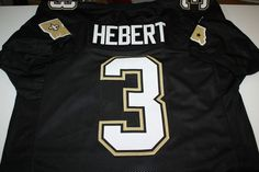 New Orleans Saints Bobby Hebert 3 Custom Jersey Size Large QB Who DAT Nation | eBay