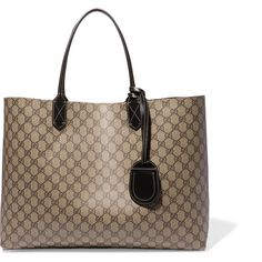 Gucci Turnaround medium reversible leather tote ($1,000) ❤ liked on Polyvore featuring bags, handbags, tote bags, brown tote bags, leather tote, reversible tote, gucci tote bag and handbags totes