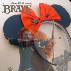 Disney Brave Merida Minnie Mouse Ears by seamcometrue on Etsy