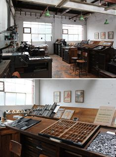 I love print shops, it was my dad's occupation and it was always mine. I love the ink and paper smells. The paper textures, etc.! Deneece