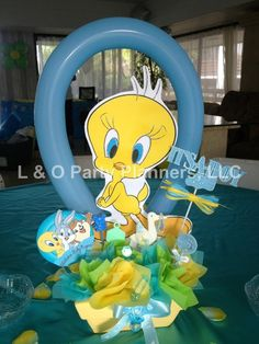 L & O Party 's Baby Shower / Baby Looney Tunes - Photo Gallery at Catch My Party Baby Shower Sweets, Baby Girl Shower Themes, Baby Shower Gifts For Boys, Baby Boy Shower, Baby Shower Decorations, Looney Tunes Bebes, Looney Tunes Party, Bird Birthday Parties, Baby Girl Birthday